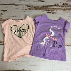 Okie Dokie Set of 2 Toddler T-shirts.